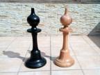 Шахматы напольные уличные из дерева №4.