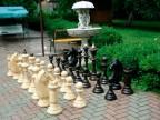 Шахматы напольные уличные из дерева 1.