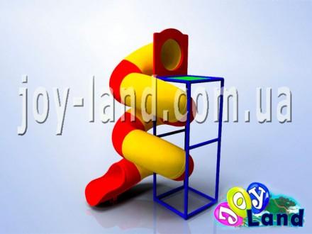 Горка Спираль 3м с приставкой
