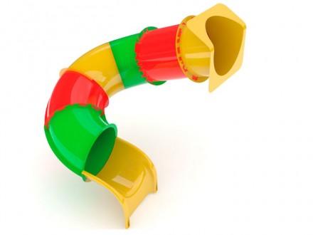 Горка поворот Стеклопластик 1,5м