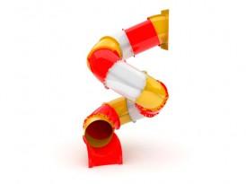 Горка спираль Стеклопластик 2,7