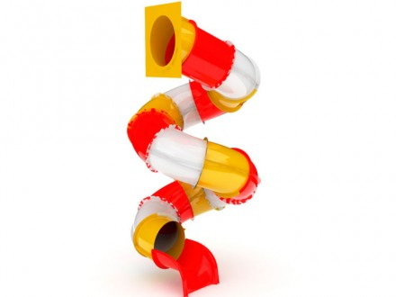 Горка спираль Стеклопластик 3,3м