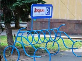 """Велопарковка """"Дабл байк - 7"""" с рекламой"""